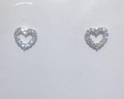 PT950白金愛心鑲鑽耳環 珠寶設計工藝 超閃CZ鑽鑲嵌 時尚好看 pure platinum diamond earrings new