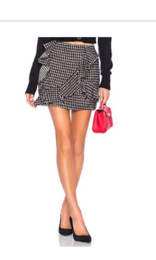 Mixed wool ruffle skirt
