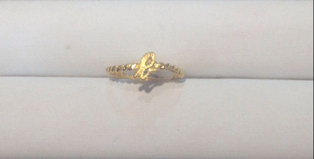 黃金純金9999時尚小b戒指 獨特品牌設計款  pure gold ring