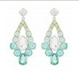 Forever New Teal Gradient Statement Earrings