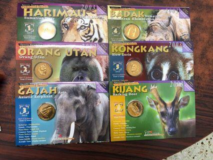 Malaysia Animals Series Coin card (No.1 - 12)