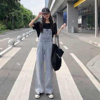 韓🇰🇷大長腿吊帶褲