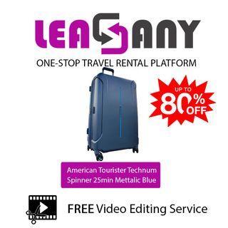 Rental: American tourister technum spinner 25min mettalic blue