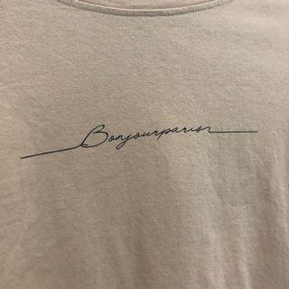 米白色簡約T恤