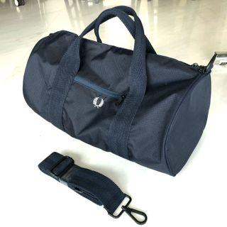 *Discounted Further* Fred Perry Navy Check Twill Barrel Bag
