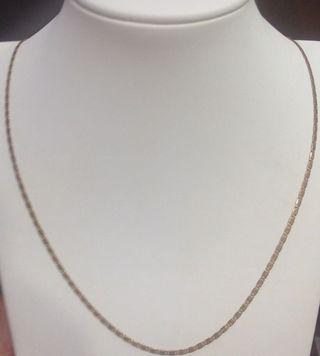 K黃金扁片式項鍊 獨特時尚好看 pure gold necklace k 5g