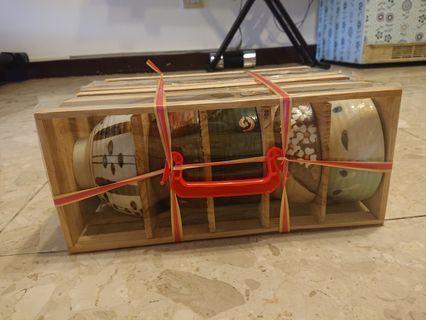 🌬日式質感碗木盒裝(一盒五碗)*2