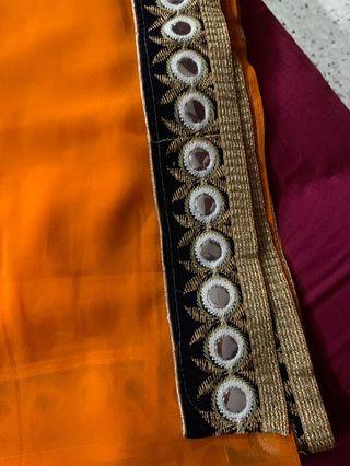 Orange Minimalistic Saree #letgo50
