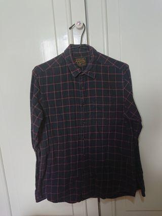 🌬Net Flannel 格紋長袖襯衫 M號