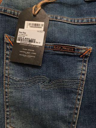 Nudie Jeans Thin Finn Flood Use Like New Size 30 ORI 100%