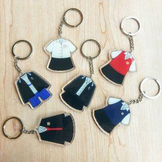 自己設計的 雄女Q版制服鑰匙圈 高雄女中 KGHS 校友 紀念 客製化