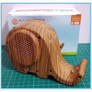 現貨 木質 大象 手機支架  藍芽 喇叭 音響 造型 照型