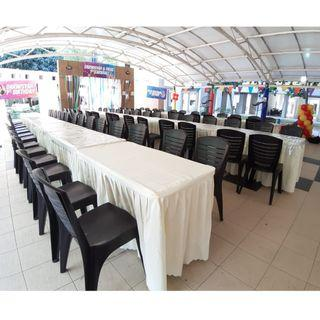 [Rent] Tables and Chairs Rent Rental Cheap Deliver Setup Event Function Wedding Birthday Party Flee Market Roadshow Kenduri Buffet BBQ Barbecue Barbeque Rental Open House Celebration 33