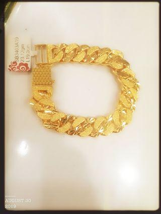 Gold 916 Diamond 3D Bracelet