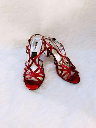 Red party shoes size 39/40