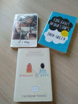 Eleanor & Park , The Fault in our Star, If I Stay