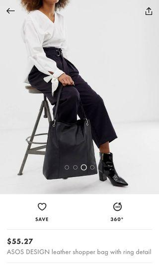 ASOS TOTE BAG (100% LEATHER)
