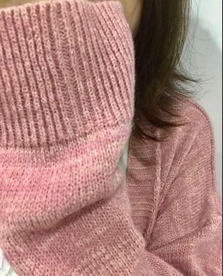 LOVFEE  針織外套 粉
