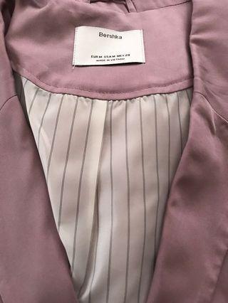 藕色長版外套
