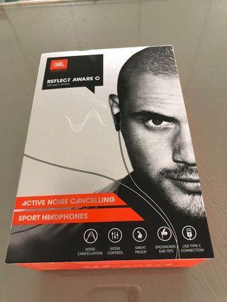 JBL harman 主動式降噪 耳機 reflect aware C 黑色 橢圓耳道舒適 tape C 德國紅點設計獎