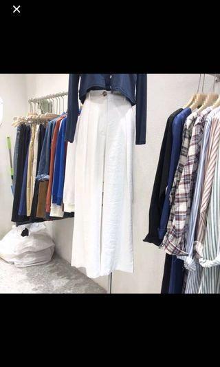 白色雪紡寬褲 全新#五折出清女裝