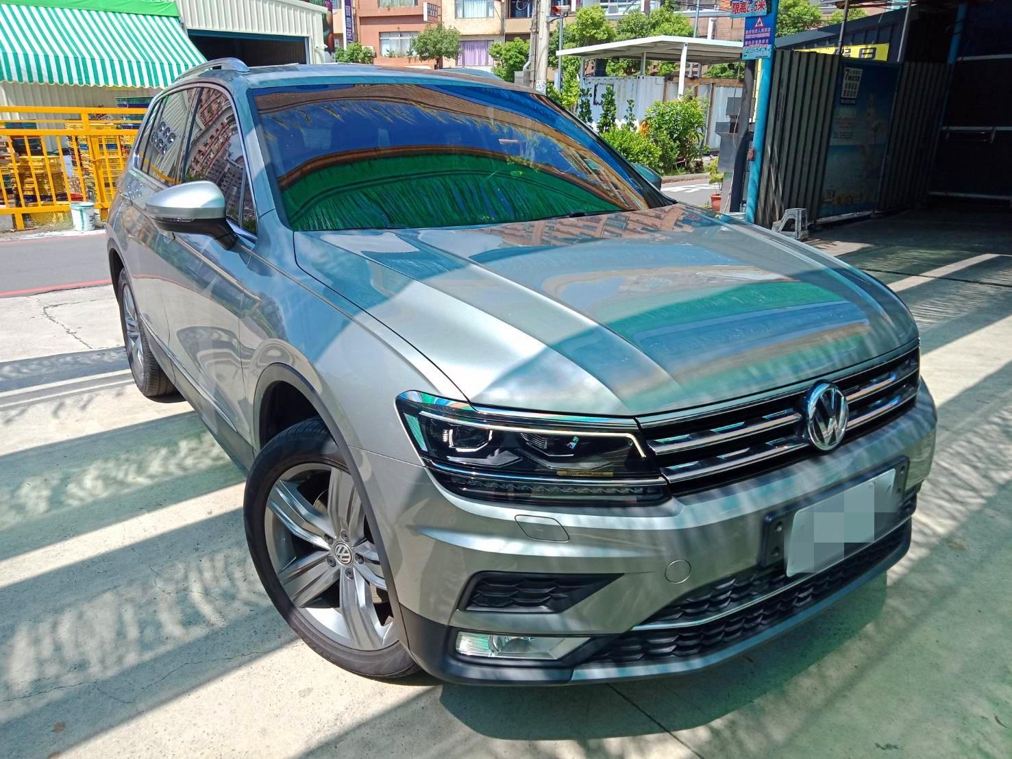 2017年 Tiguan 灰 1.4跑4萬 熱門車中古車二手車