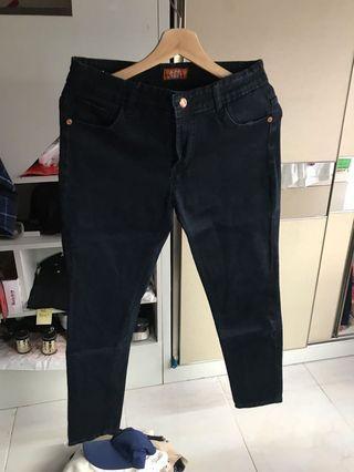 Jeans Hitam No Brand