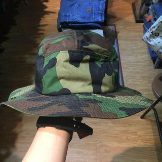 迷彩抽繩漁夫帽(#509)