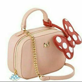 迪士尼米妮女包/手提包/迷你小包/鏈條單肩包