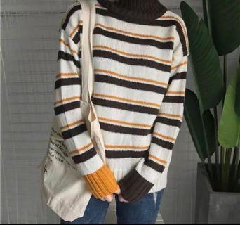 線條針織毛衣🧶#