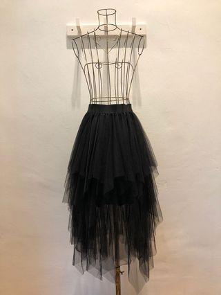 Black Layered Tutu Skirt