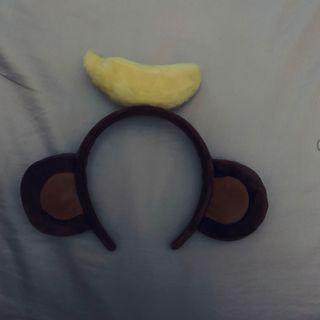 韓國🇰🇷樂天世界 猴子 香蕉 髮箍 🐒 🍌