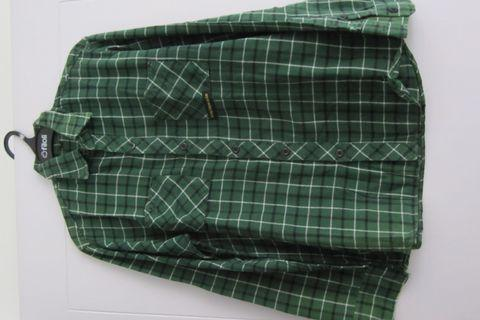 flanel unisex cowo cewe hijau tua kotak kotak high quality rajut knitted size fit to M besar