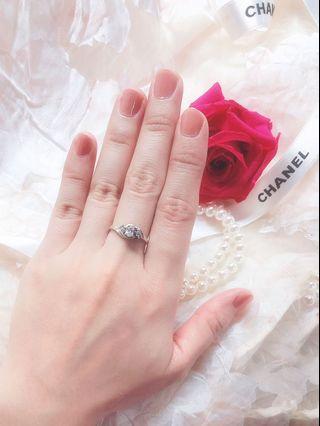 925純銀鑽戒 戒指 銀戒 silver ring