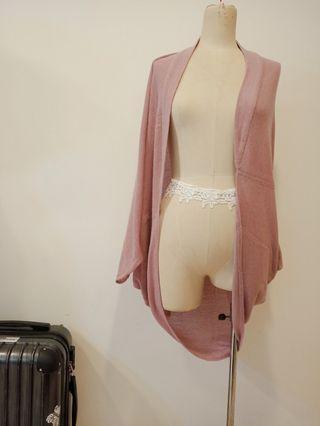 粉藕色 罩衫