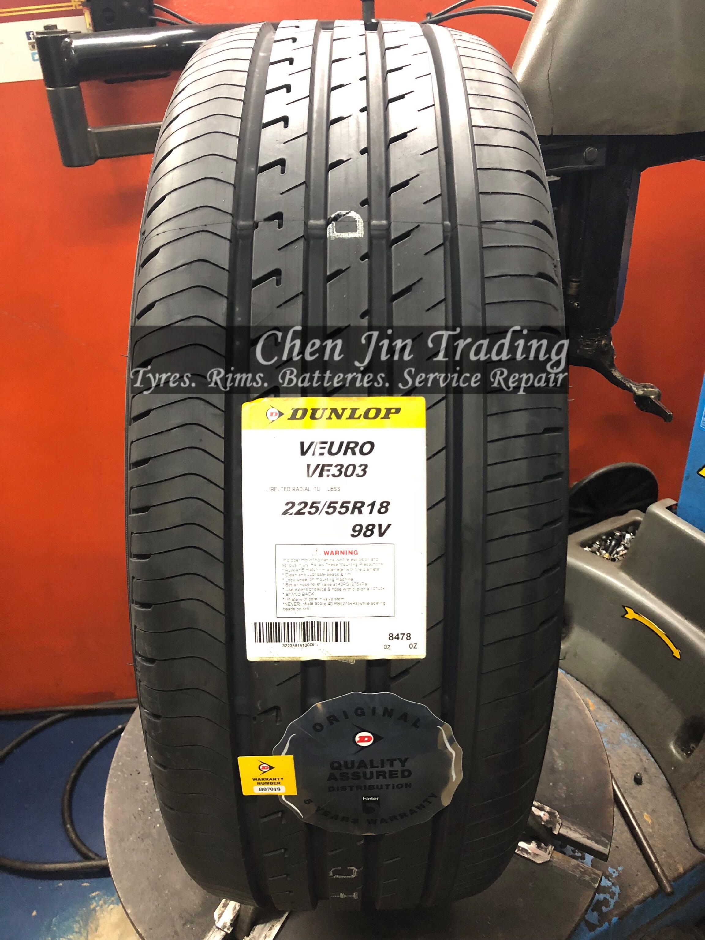 4pcs 225/55/18 Dunlop Veuro VE303 Car tyre