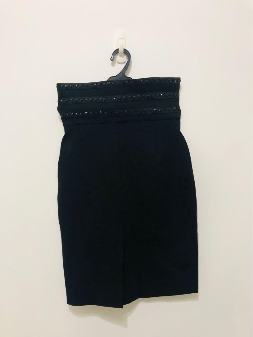 高腰裙 包裙 黑色裙