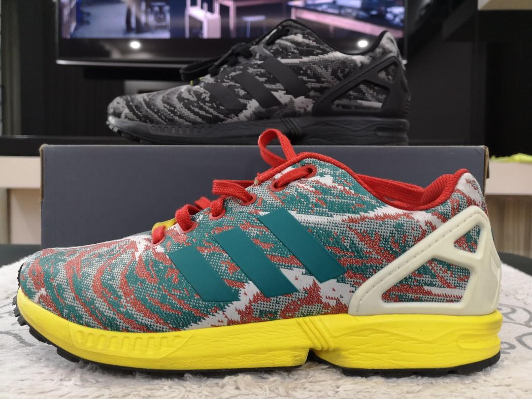 Rare Adidas ZX Flux with Torsion System Multicolor on Carousell