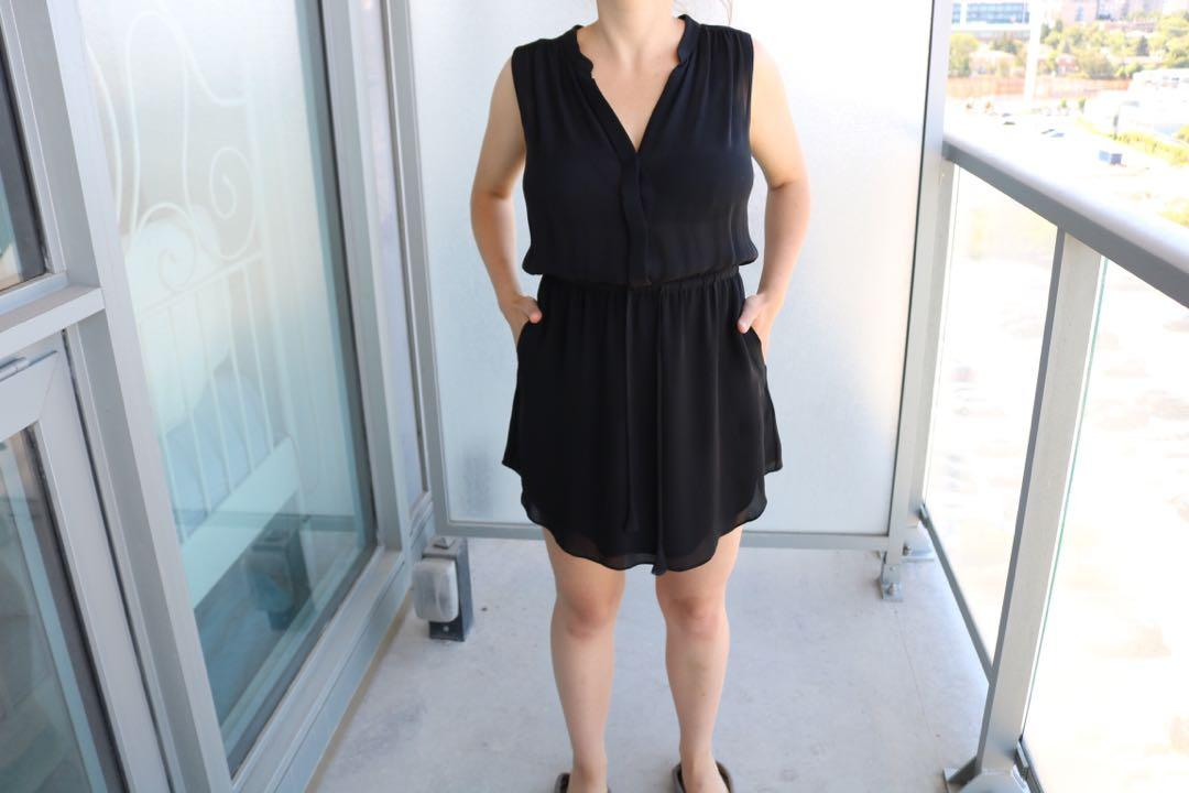 Aritzia babaton black Bennett dress in small sleeveless