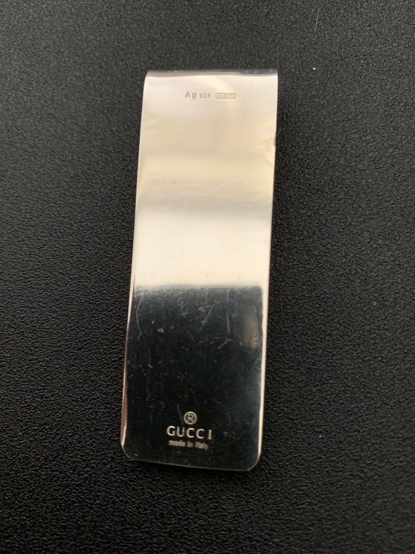 Auth]GUCCI ~Micro GG Bee Money clip~ SV925 Free shipping #026688