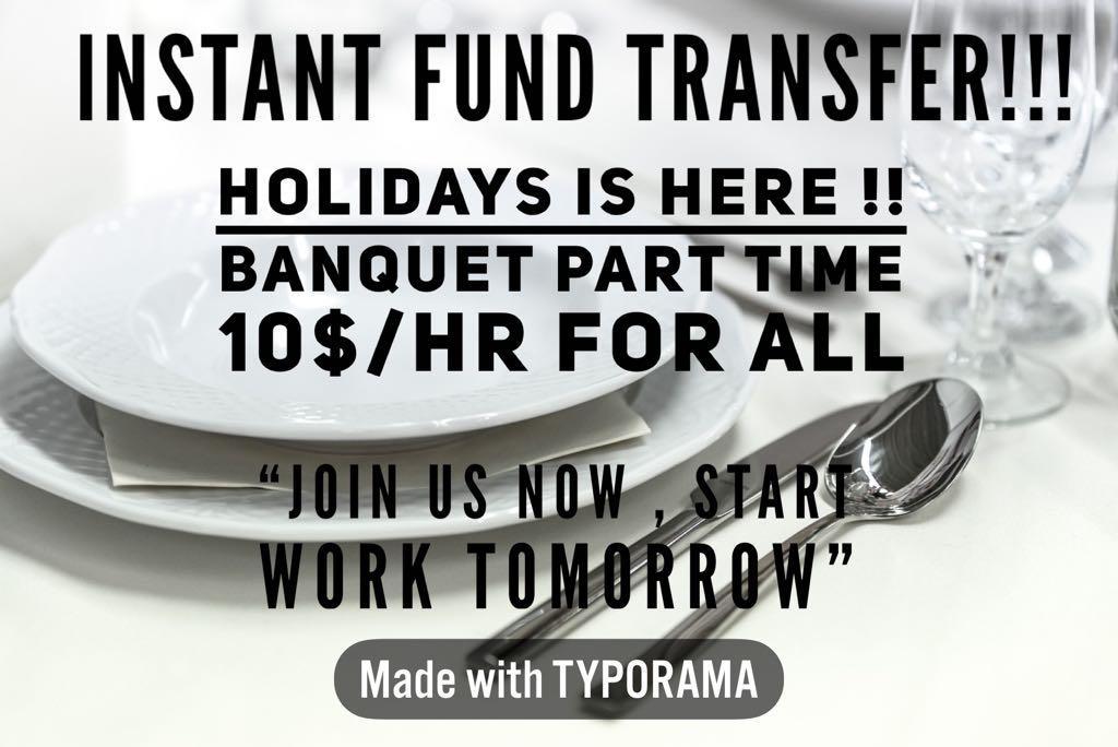 BANQUET Job 12$-10$