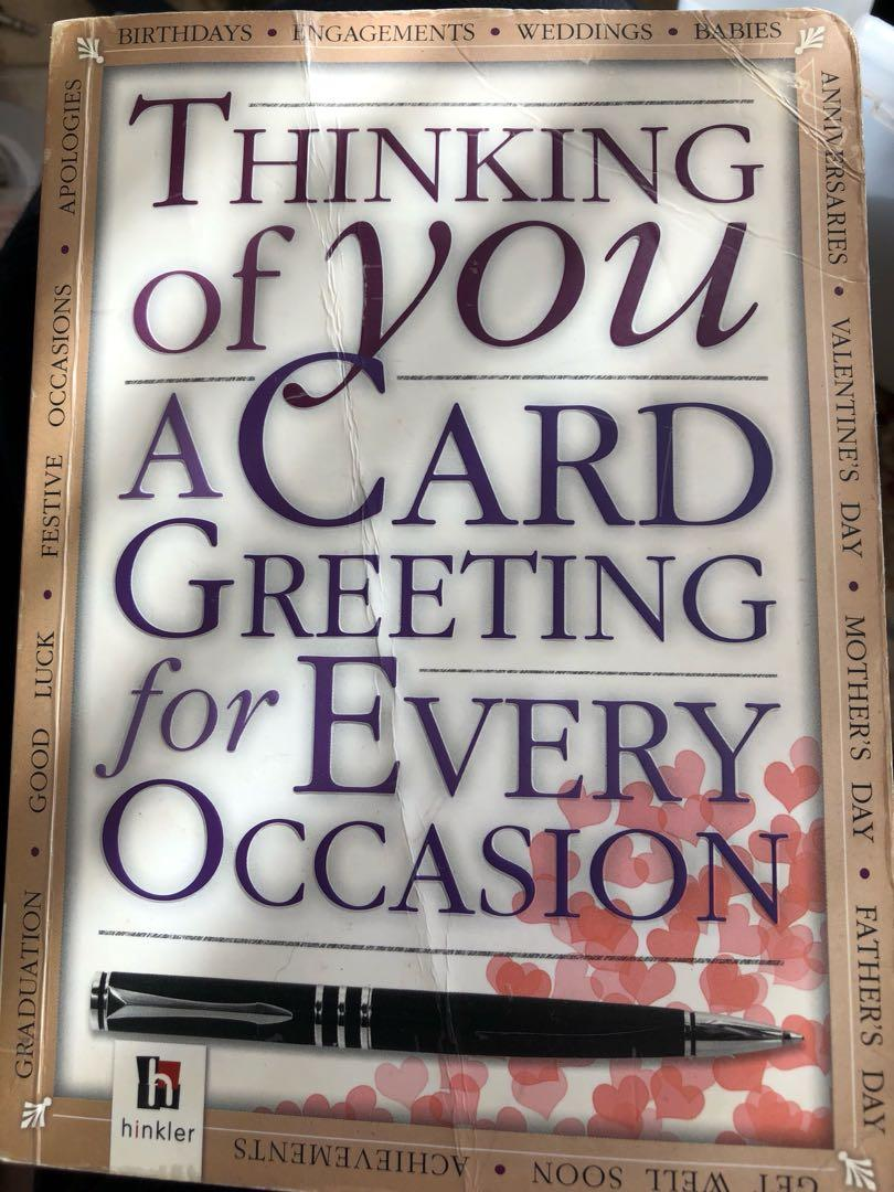 Book with different well wishes, greetings and notes   Letters/ greetings for every occasion book