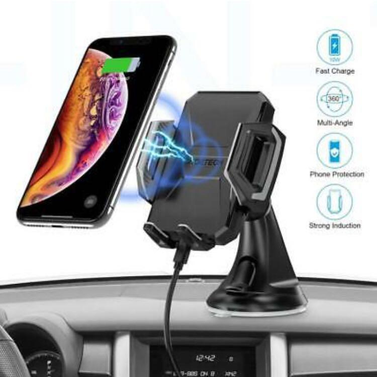 Dashboard /& Windshield Car Mount 7.5W /& 10W Wireless Car Charger Cell Phone Holder 7.5W Compatible for iPhone Xs Max//Xs//XR//X 2019 NEW 10W Compatible for Samsung Galaxy S10//S10+//S10e//S9//S9+//Note9