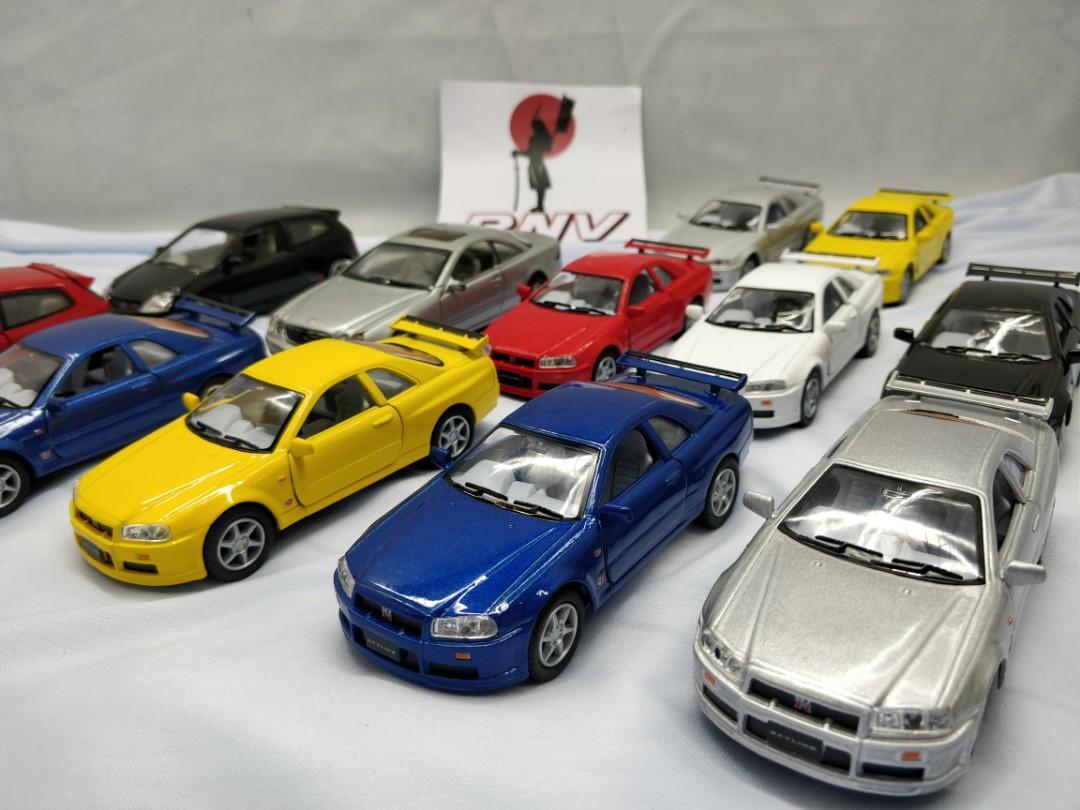 Diecast GTR R34 , Type R EP3 & mech scale 1:36