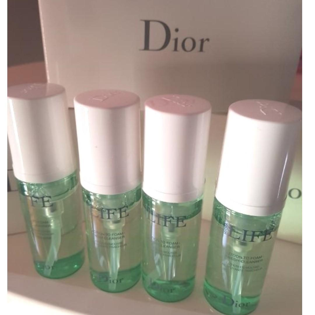 DIOR Hydra Life Lotion to Foam Cleanser. 50ml x 4. New.