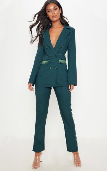 Emerald green suit