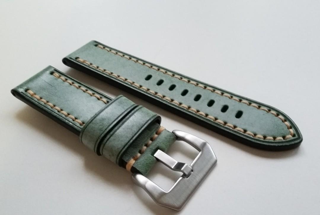 Panerai GREEN Alligator Strap Regular Length 22mm Lug for Tang Buckle