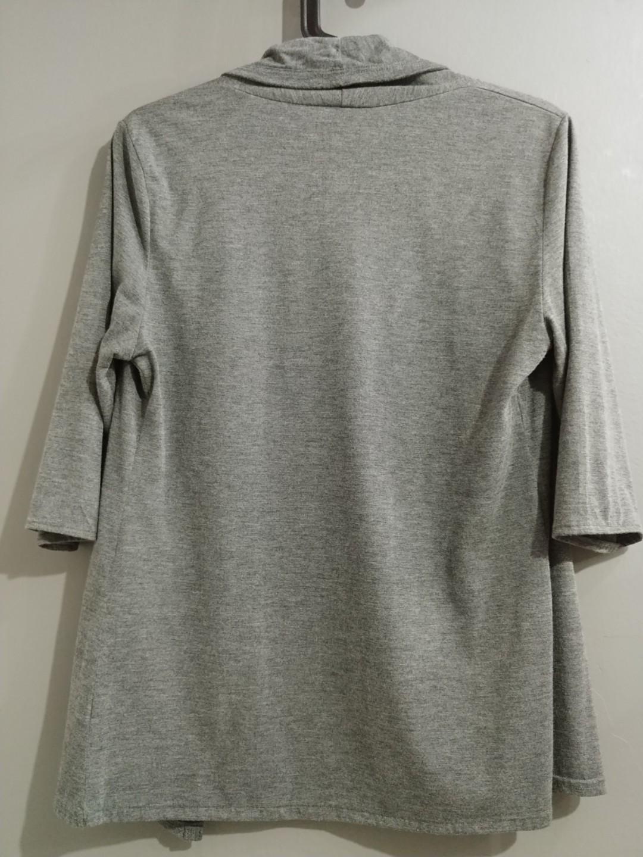 Grey Drape Cardigan