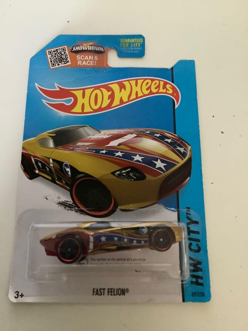 Hot wheels 2013 TREASURE HUNT fast felion rare limited edition diecast car