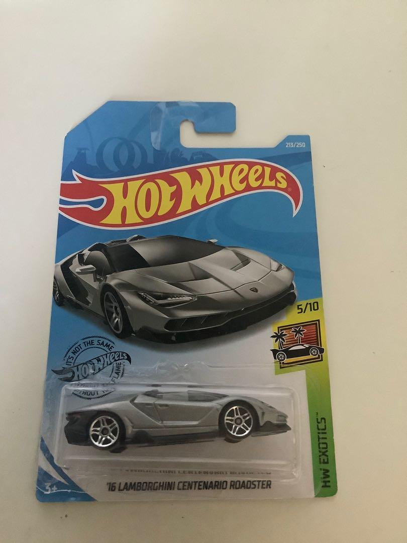 Hot wheels 2016 Lamborghini Centario roadster convertible diecast sports car